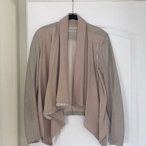 Blank NYC vegan leather jacket, S